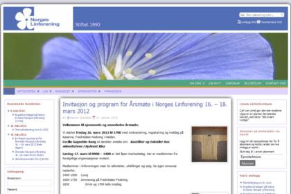 Norges Linforening forside 2010-