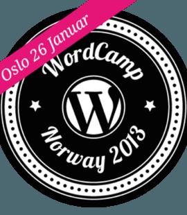 Logo WordCamp Norge 2013