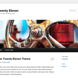 Twenty Eleven standardtema fra WordPress