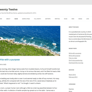 Twenty Twelve standardtema fra WordPress