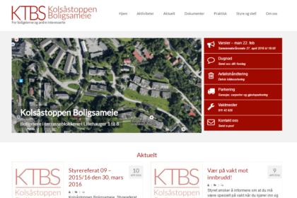 KTBS skjermdump av forsiden på nettsiden
